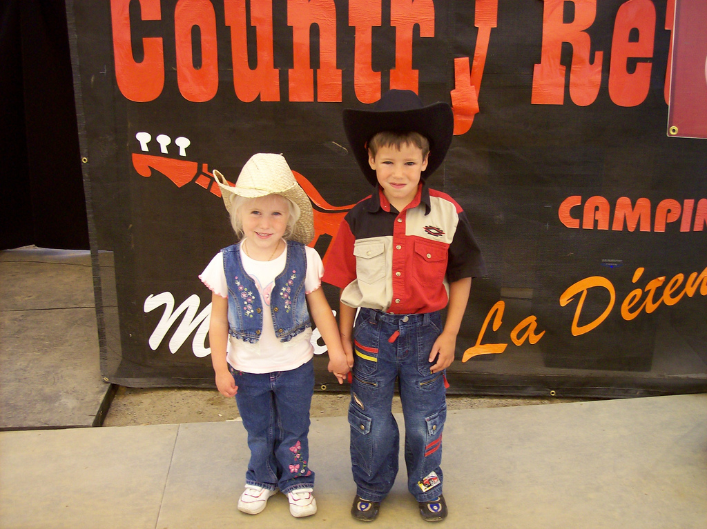 Enfants Week-end Country Rétro